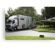 The BBC outside broadcast vehicle. Canvas Print