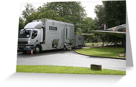 The BBC outside broadcast vehicle. by Keith Larby