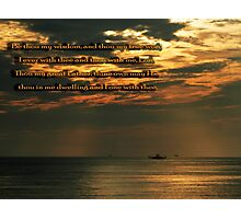 My Wisdom His Word Photographic Print