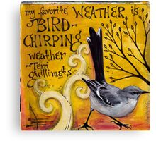Bird Chirping Canvas Print