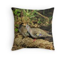 2 Crested Pigeons Throw Pillow