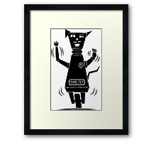 Robot Cat Framed Print