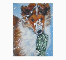 Collie Christmas Fine Art Painting Unisex T-Shirt