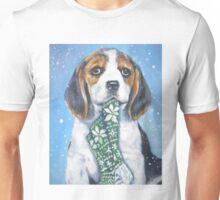 Beagle Christmas Fine Art Painting Unisex T-Shirt