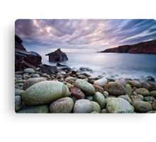 Pebble Beach at Sunset Canvas Print