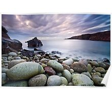 Pebble Beach at Sunset Poster