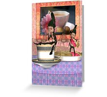 There is an etiquette when serving tea Greeting Card