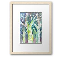 The Watercolored Forest Framed Print