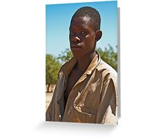 Proud young man Greeting Card