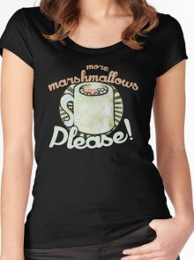 More marshmallows please Women's Fitted Scoop T-Shirt