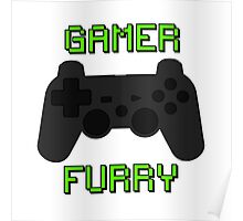 Play Station Gamer Fur  Poster