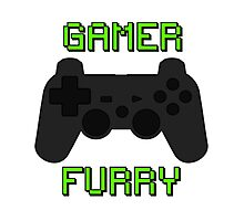 Play Station Gamer Fur  Photographic Print