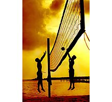 Volleyball sunset Photographic Print