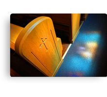 Stain glass Sunday Canvas Print