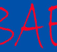 BAE, before anyone else, baby, sweetie, Red on Navy, Blue by TOM HILL - Designer