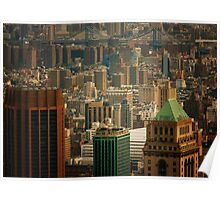 New York City Buildings and Skyline Poster