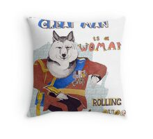 Behind every great man is a woman rolling her eyes Throw Pillow