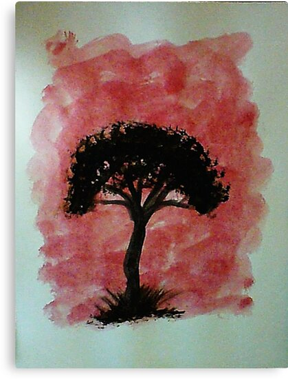 Tree of Africa study #1 Series, watercolor by Anna  Lewis, blind artist