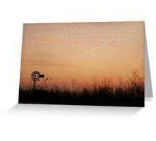 Bessed Assurance Greeting Card