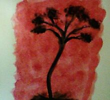 Tree Study of Africa Series, #3, watercolor by Anna  Lewis