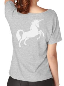 Unicorn, Heraldry, Horse, Legend, Myth, Mythology, Tale, Story, fable, fiction, folklore, lore,  Women's Relaxed Fit T-Shirt