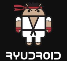 Ryu from Street Fighter goes Google Android Style Kids Tee