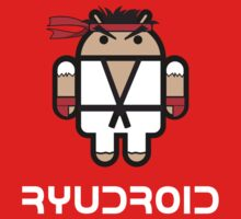 Ryu from Street Fighter goes Google Android Style One Piece - Short Sleeve
