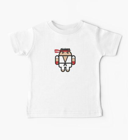 Ryu from Street Fighter goes Google Android Style Baby Tee