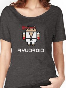 Ryu from Street Fighter goes Google Android Style Women's Relaxed Fit T-Shirt