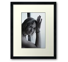 Lory portrait in bn Framed Print
