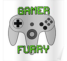 N64 Gamer Fur Poster