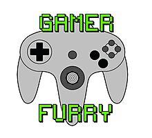 N64 Gamer Fur Photographic Print