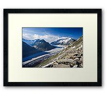 Aletsch glacier Framed Print