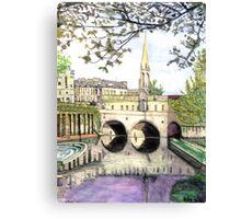 Pultney Bridge Bath England Canvas Print