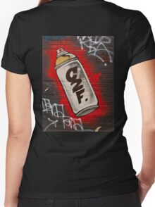 Melbourne Graffiti 17 hoodie Women's Fitted V-Neck T-Shirt