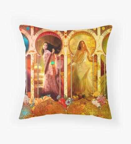 Joy Faith Hope & Love Throw Pillow