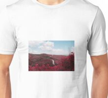 Red leaves fields Unisex T-Shirt