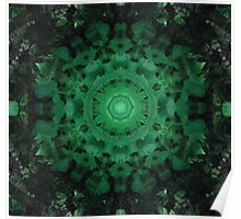 Green Mandala Poster