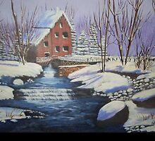 Snowy Mill by Dbutrflys