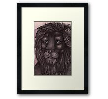 The Lion that Dreams Framed Print