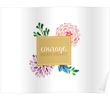 courage dear heart c.s. lewis (background colour can be changed) Poster