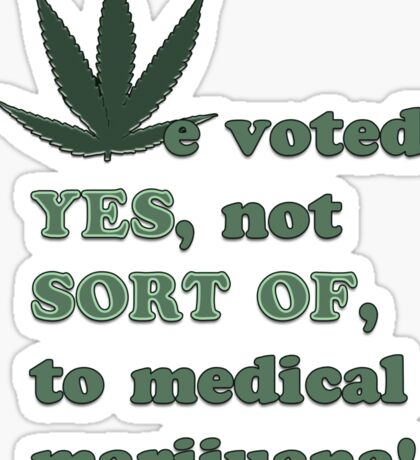 Medical Marijuana Tee Sticker