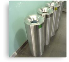 Recycling bins Canvas Print