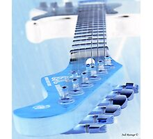 Ice Guitar Photographic Print