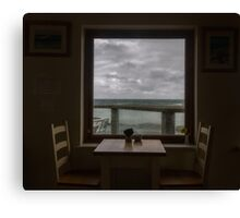 Storm Watching through the Window,Cornwall Canvas Print