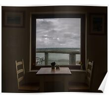 Storm Watching through the Window,Cornwall Poster
