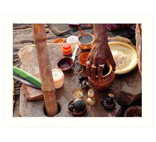 Dawn Ritual - Holy River Ganges Art Print