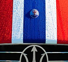 Vintage Maserati Hood Ornament and Emblem 1 by Jill Reger