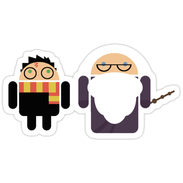 Harry Pottroid and Dumbledroid by Karen  Hallion