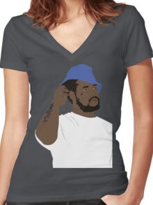 SCHOOLBOY Q Women's Fitted V-Neck T-Shirt